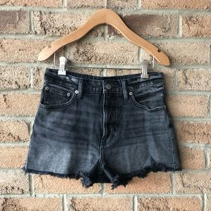 LUCKY BRAND | Black faded cutoff jean shirt